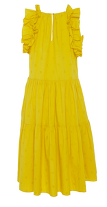 Tamsin Dress - Chartreuse