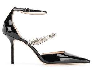 Bobbie Patent Leather 85mm Pump - Black