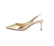 Load image into Gallery viewer, Erin Liquid Metallic Slingback 60mm Pumps - Ballet Pink