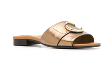 Load image into Gallery viewer, Flat Mule Sandal - Harvest Gold
