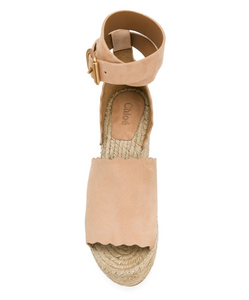 Platform Scalloped Trim Sandal - Reef Shell