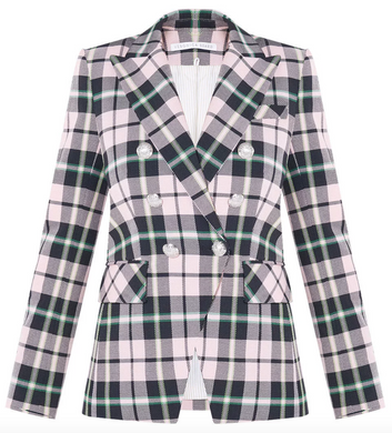 Miller Dickey Jacket - Pink Multi Plaid