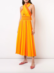 Halter Dress - Orange Melt
