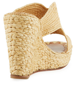 Lina Wedge Slide - Natural