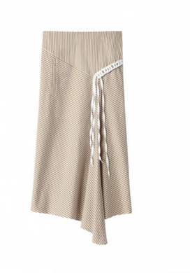 Kaia Skirt - Khaki/White Multi