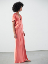 Load image into Gallery viewer, Long Laila Dress - Coral/Blush