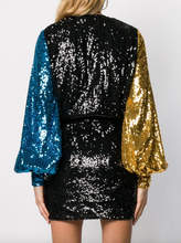 Load image into Gallery viewer, Sequin Wrap Dress - Multi