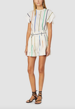 Load image into Gallery viewer, Multicolor Stripe Belted Short - Soft White