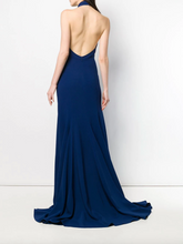 Load image into Gallery viewer, Meghan Markle Halter Gown - Blue Note