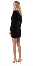 Load image into Gallery viewer, Lara Velvet Mini Dress - Navy