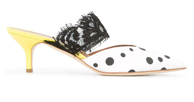 Maisie Ungaro Mule - White/Black/Yellow