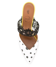 Load image into Gallery viewer, Maisie Ungaro Mule - White/Black/Yellow