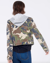 Load image into Gallery viewer, Cara Hoodie Jean Jacket - Camo