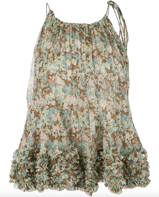 Ruffled Top - Floral Multicolor
