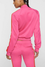 Load image into Gallery viewer, Cropped Track Jacket - Rouge Pink