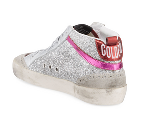 Mid Star Sneaker - Silver/Pink