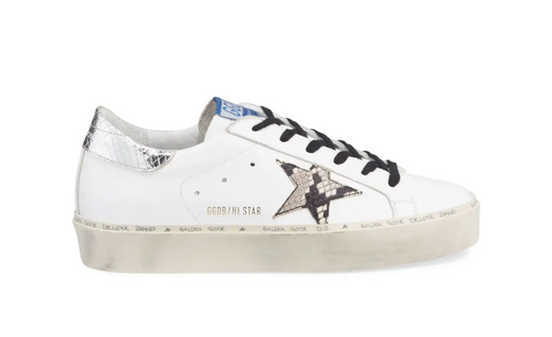 Hi Star Sneaker - White/Natural Snake