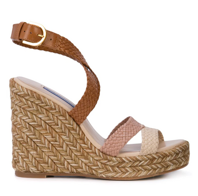 Elsie 85 mm Platform Wedge - Beige