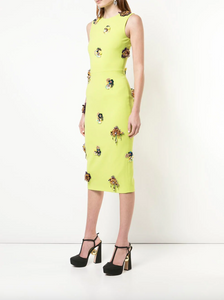 Floral Dress - Palm Green