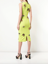 Load image into Gallery viewer, Floral Dress - Palm Green