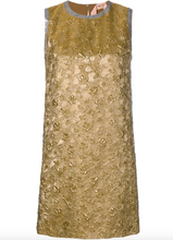 Load image into Gallery viewer, Sleeveless Brocade Dress - Silver/Gold