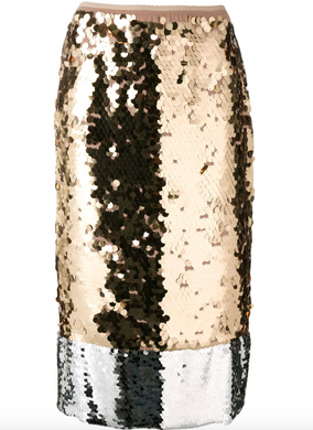 Sequined Skirt - Silver/Gold
