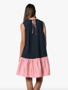 Fuji Dress - Flamingo/Midnight