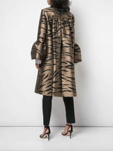 Load image into Gallery viewer, Tailored Coat - Brown Tiger Multi