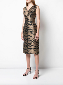 Tiger Print Dress - Brown Tiger Multi