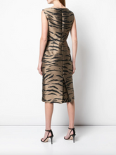 Load image into Gallery viewer, Tiger Print Dress - Brown Tiger Multi