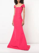 Load image into Gallery viewer, Off-Shoulder Gown - Hibiscus