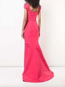 Off-Shoulder Gown - Hibiscus