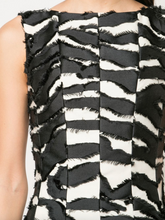 Load image into Gallery viewer, Fit & Flare Paneled Dress - Zebra