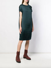 Load image into Gallery viewer, Satin T-shirt Dress - Teal