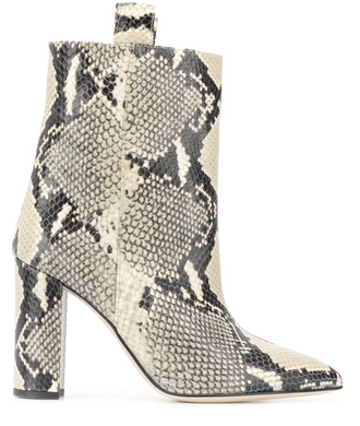 Snake Ankle Boot 100 mm - Natural