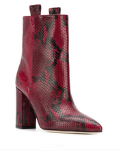 Load image into Gallery viewer, Snake Ankle Boot 100 mm - Dark Red