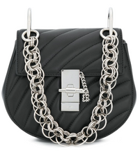 Load image into Gallery viewer, Drew Bijou Quilted Bag - Black/Silver