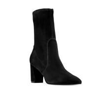 Load image into Gallery viewer, Landry Suede Bootie 75 mm - Black