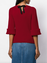 Load image into Gallery viewer, Elbow Sweater - Deep Red