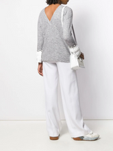 Load image into Gallery viewer, Pearl Cuff Sweater - Gray