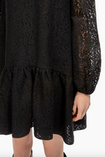 Load image into Gallery viewer, Floral Lace Shift Dress - Black