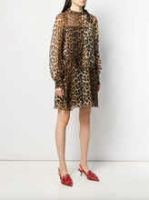 Load image into Gallery viewer, Mini Sheer Dress - Leopard