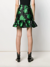Load image into Gallery viewer, Floral Flounce Skirt - Black/Green