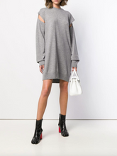 Load image into Gallery viewer, Cut-out Knitted Dress - Gray