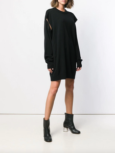 Cut-out Dress - Black