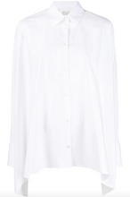 Load image into Gallery viewer, Asymmetrical Hem Shirt - White