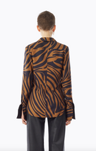 Load image into Gallery viewer, Print Button-Down Blouse - Zebra
