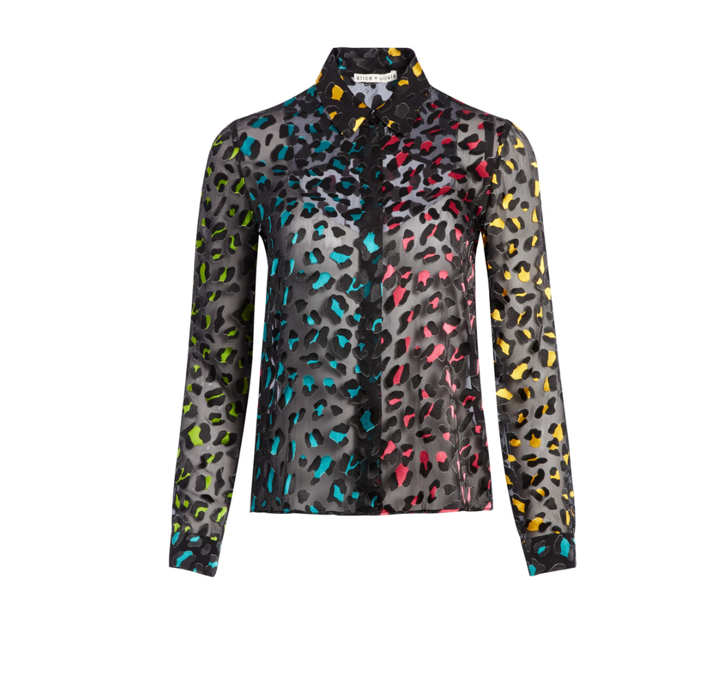 Willa Top - Rainbow Leopard
