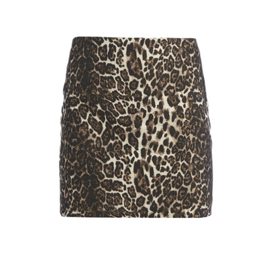 Elana Mini Skirt - Leopard