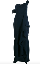 Load image into Gallery viewer, Off-the-shoulder Hi-Lo Gown - Navy